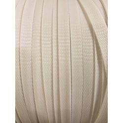 Кабелна оплетка 12мм бяла
