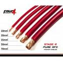Захранващ кабел 35мм2 червен OFC 4Connect PC35GR