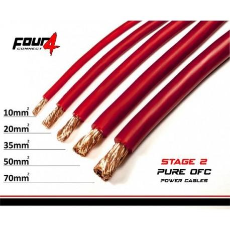 Захранващ кабел 20мм2 червен OFC 4Connect PC20GR
