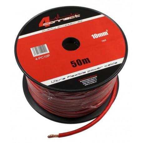 Захранващ кабел 10мм2 червен 4Connect PC10SR
