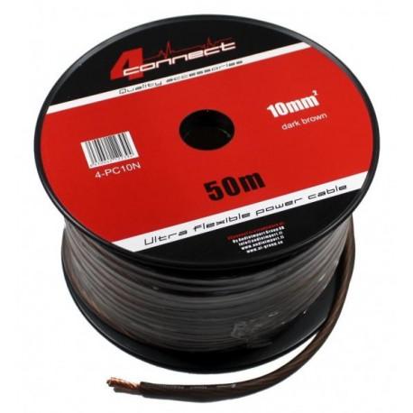 Захранващ кабел 10мм2 кафяв 4Connect PC10SB