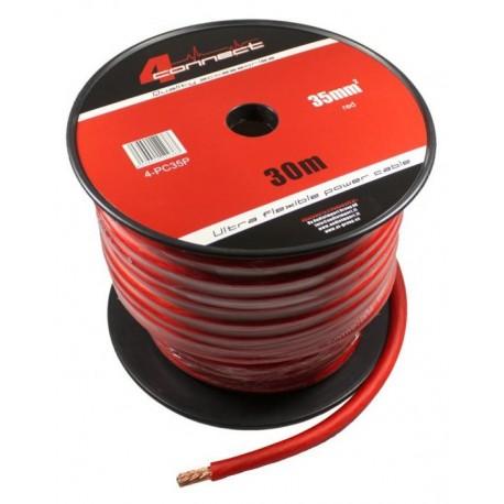 Захранващ кабел 35мм2 червен 4Connect PC35SR