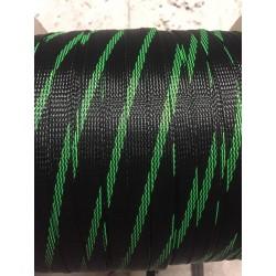 Кабелна оплетка 12мм черно/зелено